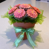 Cupcake Bouquet Guinness stout cupcakes with brown sugar meringue buttercream.