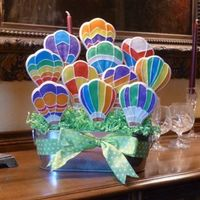 Hot Air Balloon Cookie Bouquet Since the big balloon fiesta will be starting this coming weekend, I thought I'd try out my new hot air balloon cookie cutter. The...