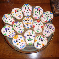 Cookies For Dia De Los Muertos I made these for a gathering last year. I surprised myself with how fast I could bake and decorate when absolutely necessary-- usually I&#...