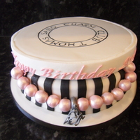Thomas Sabo Jewellery Box choc cake box with cake drum lid, made for someone who loves thomas sabo charm bracelets!
