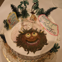Where The Wild Things Are Butter Cream frosting, fondant and royal icing characters, vanilla cake, chocolate mousse filling