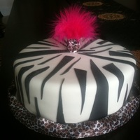 Zebra Cake Thx 2 cake central for the easy zebra stripe tipsl!