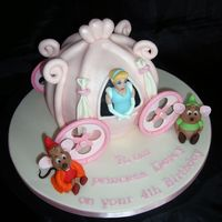 Cinderellas Carriage This is a cake modelled on Cinderellas Carriage, made out of the 6 inch ball pan. Cinderella Gus and Jaq are made out of gumpaste. This...