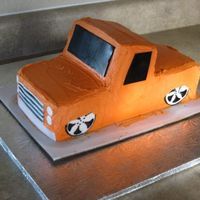 Slammed Truck This is a cake I have been wanting to do for a while since my husband is big into lowered trucks. 2 9x13 stacked and cut to make a truck....