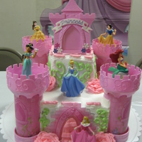 Disney Princess Castle This cake was for my neice's 6th birthday. She wanted Disney Princess and she got it! I bought the kit from a lady at work who bought...