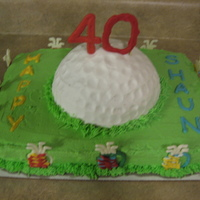 "40 Golf Birthday This was for my brother's 40th birthday. He is a golf lover and this cake fit him to a ""tee"". :) The thought the golf bags..."