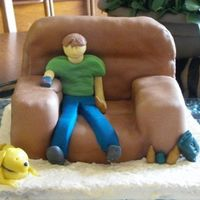 Couch Cake   I made this for my brothers birthday, It was the first 3D cake I made and am fairly pleased with how it turned out.