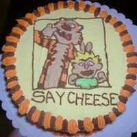 Calvin And Hobbes   Chocolate cake with yellow buttercream icing. I made this just for fun....
