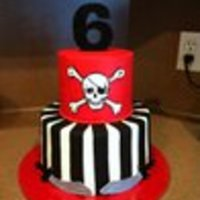 Pirate Cake   buttercream w/ fondant accents