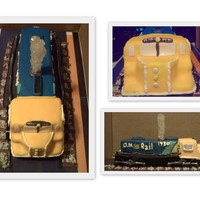 Ontario Northland Train 90th Birthday Cake done for a gentleman who had worked for this railway company for many years. Made from marble cake with Fondant and Gum...