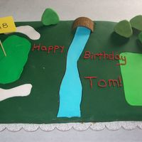 Golf Birthday This is a chocolate cake with chocolate butter cream and fondant