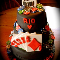 Rio's Birthday Cake I made this cake for my girlfriend's boyfriend's surprise birthday party. He loves poker so I went all out with a royal flush...