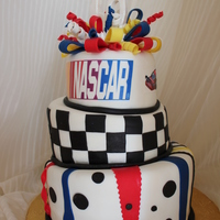 Nascar 60Th Birthday Cake Used nascar as inspiration.. edible ink sheets for logos.
