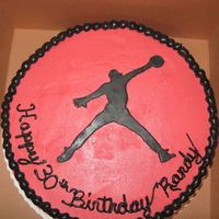 Michael Jordan Birthday Cake Lemon Cake, fresh whipped cream filling w/ buttercream frosting. For a Jordan loving 30th birthday!
