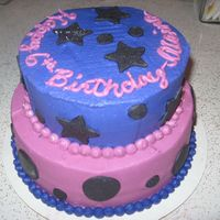 Purple, Pink And Black This cake was somewhat to go with a Hannah Montana themed party. THe mom did not know what she wanted!