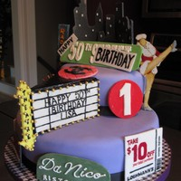 Nyc Themed Cake 50th Birthday cake. Covered in fondant with gumpaste accents. Thanks for looking!