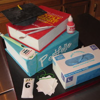 "Mcc Dental Hygiene Class Of 2010 Grad Cake Wow, this was fun to make... especially while I was trying to study for my Dental Hygiene finals. ""Wilkin's (red) book"" was..."