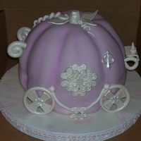 Cinderella Round cakes carved and covered in fondant