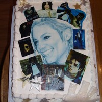 Michael Jackson This cake was made for a birthday. They really loved Michael. You cannot see the glove very good. It was made out of fondant and covered...