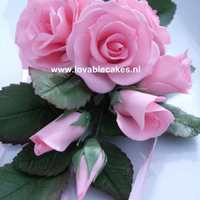 Pink Roses   Made during a workshop from Madhuri