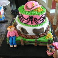 Lexi's Cowgirl Cake Inspired by a cake I saw on CC. This was perfect for a little cowgirl. Thanks for looking!