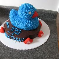 Giant Duckie birthday cake for my 21-year old b-i-l, it's what he asked for!