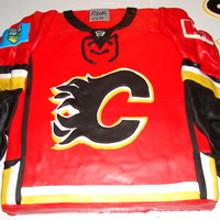 Calgary Flames Jersey   My version of a flames jersey!!!