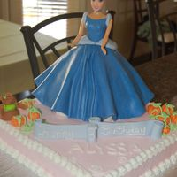 Birthday_011.jpg My first doll cake - Cinderella for a little girls 3rd birthday. After the temper tantrums from my 2 year old all the day cake seemed to go...