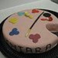 Artist Cake For a girl who loves painting