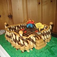 Backyard Deck This cake was made for a friends 40th birthday, as he is passionate about building decks, hence he is relaxing at 40! with the tools...