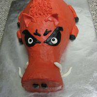 Arkansas Razorback  This is for my father in law, he is a HUGE Razorback fan and alumni. This is my 3rd cake...so I know it needs some work. Thanks so much to...