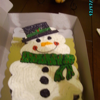 Snowman Cupcake Cake white cupcakes covered with buttercream.