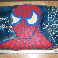 Spiderman Spiderman cake, yellow cake with buttercream icing