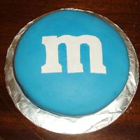 M&m   For my mom's birthday. Chocolate WASC with peanut butter chocolate pudding filling and peanut butter buttercream.