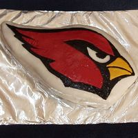 Go Cardinals! Well, this is how I wanted it to turn out, but without all the rough stuff. I didn't realize how my pattern paper would stick; had I...