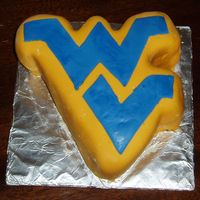 Wvu Cakes My dad played football for West Virginia, so I made this for Fathers Day. Chocolate WASC with chocolate/peanut butter pudding filling and...