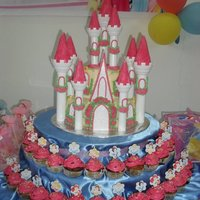 Princess Castle Cake And Cupcakes my lovely client wants exactly the same as the photo she found on the internet for her twin's birthday. i did some revisions on some...
