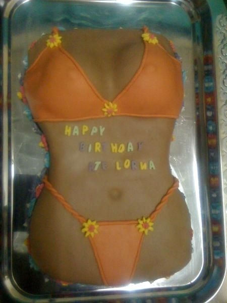 Orange Bikini Cake thanks to all...