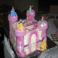 Disney Princess Castle I'm a newbie...this didn't turn out as planned but cute none-the-less. My daughter loved it.It's a 3 layer with BC frosting...