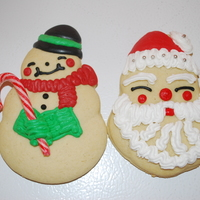 Santa And Snowman   I have been making these cookies for over 30 years They have always been a hit