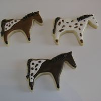 Apaloosa Horses Royal icing with sugar cookie. Made for a lady with a horse names Pretzles.