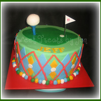 Golf Cake inspired by PCB