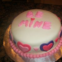 Valentines Cake i made this for the best buddies chapter at cphs which is an organization for special needs kids they loved it