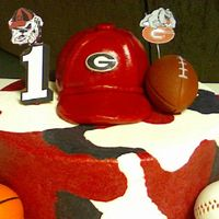 "Uga ""dawgs"" Birthday Cake"