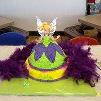 Tinkerbell  This is my first attempt at a doll cake and my first time using stars on a cake. I know it's not perfect but I'm learning a...