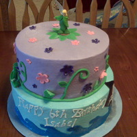 Tinkerbell And Peter Pan WASC chocolate cake with cheesecake and caramel filling. i only had the tinkerbell toy, the peter pan was added later. TFL