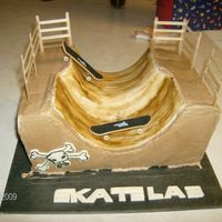 Skate Park Birthday Cake, local skate park ramp. You can see cake slid a bit after it was picked up..., still learning...deliveries seem to be a...