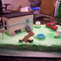 "Trailer Trash DH wanted a ""big"" cake for his boss who was being inducted into the mobile home hall of fame. He wanted to whole scene with all..."