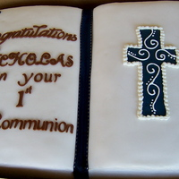 Communion Book Cake Simple Communion Cake