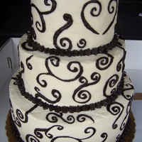 50Th Anniversary Cake With Swirls